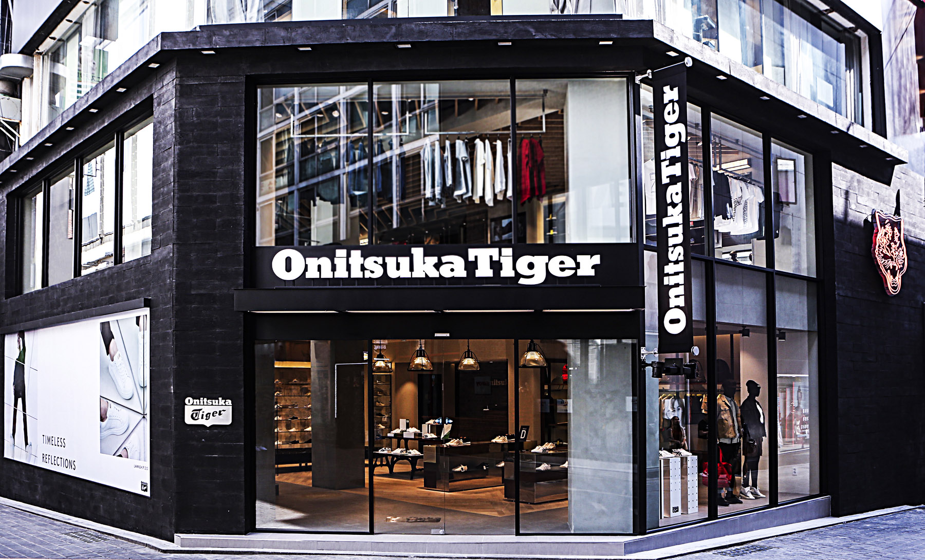 The Onitsuka Tiger Myeongdong flagship store re-opened in a new location on  April 27. Like Onitsuka Tiger s biggest Japanese flagship store Onitsuka  Tiger ... cdd9079b2