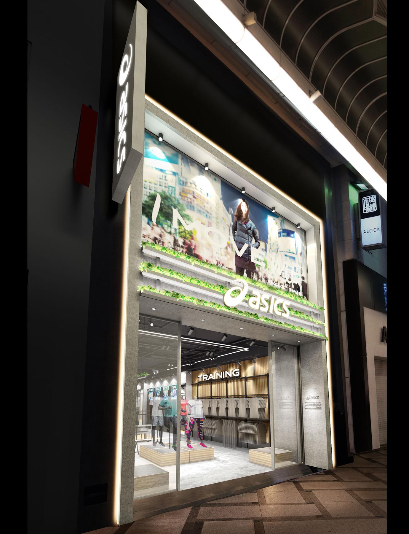 アシックス 大阪・心斎橋に 直営店「大阪心斎橋」をオープン asics