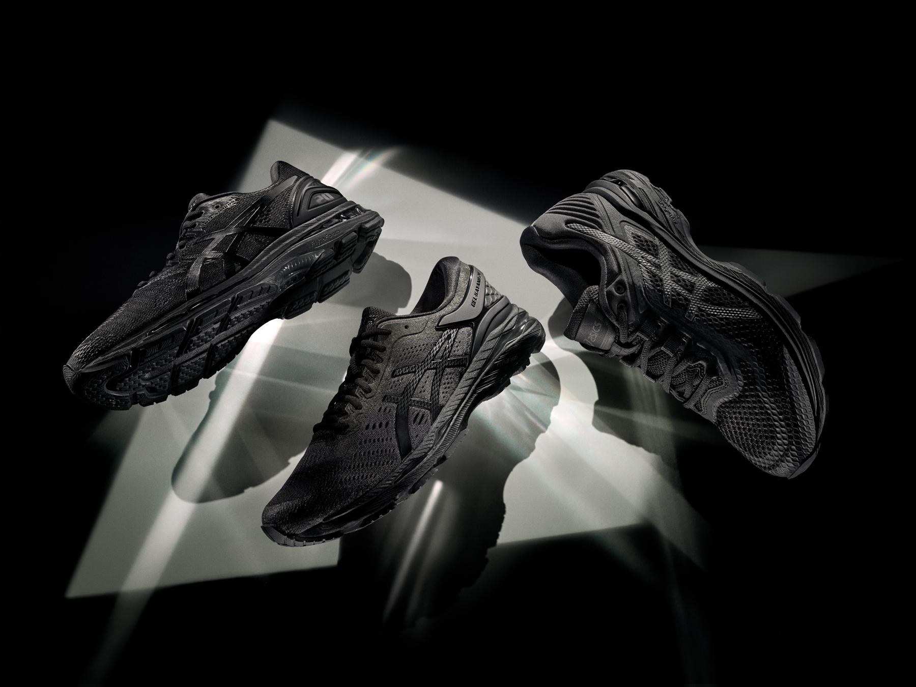 アシックス 洗練されたデザインでよりスタイリッシュに ブラックで統一したランニングシューズ 「モノクロームコレクション」を発売 asics