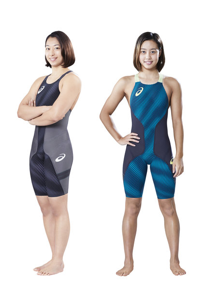 アシックス 姿勢を一直線に保ち流水抵抗の低減を追求した 競泳水着の新作を発売 asics